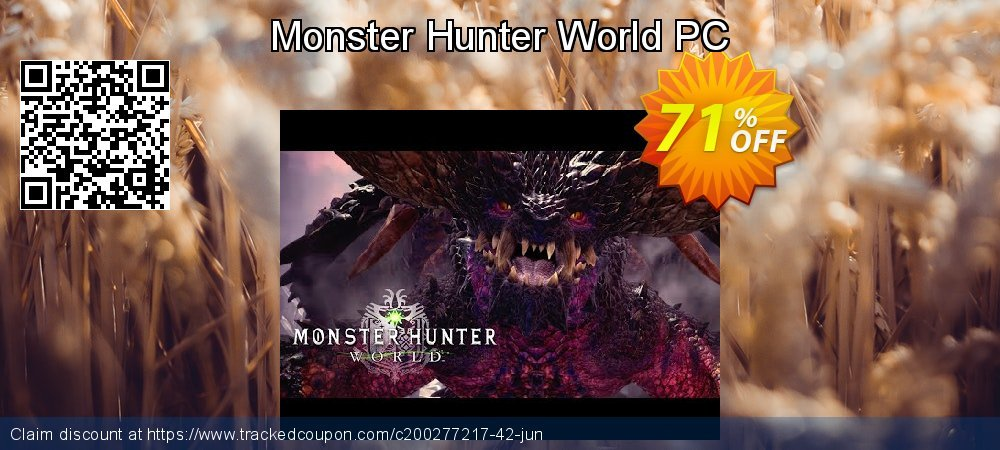 Monster Hunter World PC coupon on Mom Day deals