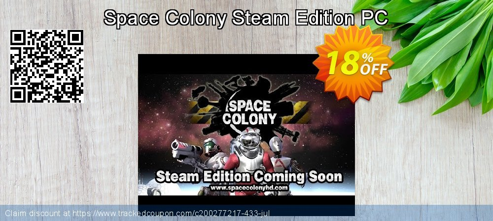 Space Colony Steam Edition PC coupon on Exclusive Teacher discount sales