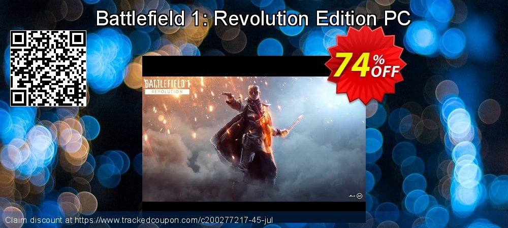 Battlefield 1: Revolution Edition PC coupon on Mothers Day offering discount