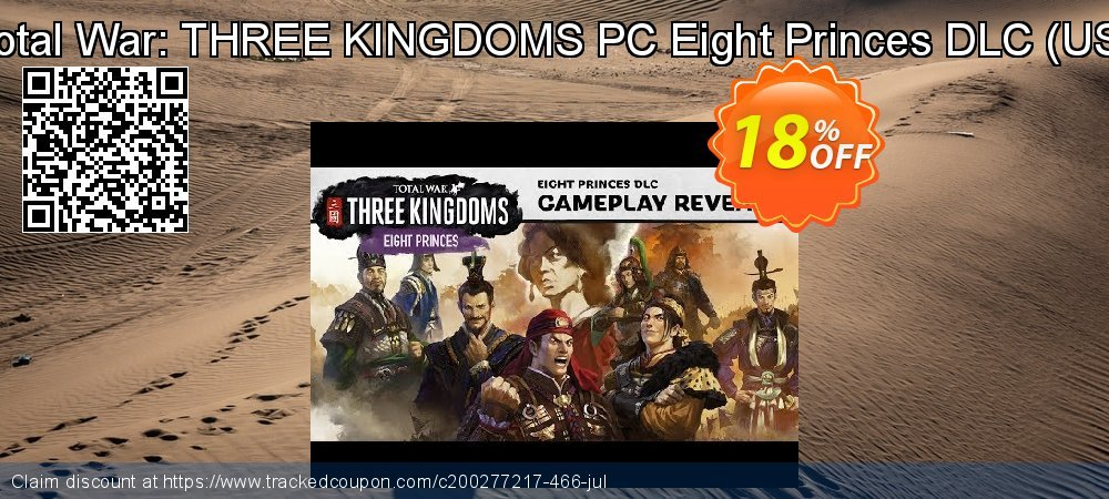 Total War: THREE KINGDOMS PC Eight Princes DLC - US  coupon on Video Game Day offering discount