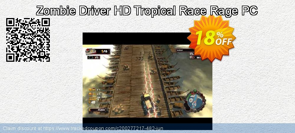 Zombie Driver HD Tropical Race Rage PC coupon on Student deals offering discount