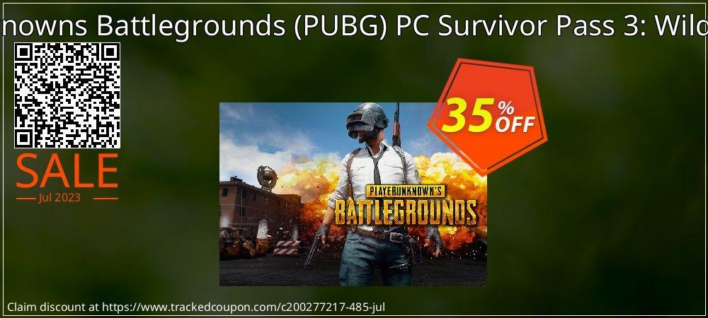 PlayerUnknowns Battlegrounds - PUBG PC Survivor Pass 3: Wild Card DLC coupon on University Student offer discounts