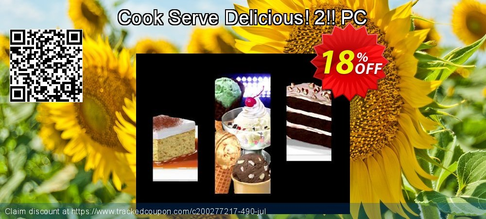 Cook Serve Delicious! 2!! PC coupon on World UFO Day deals