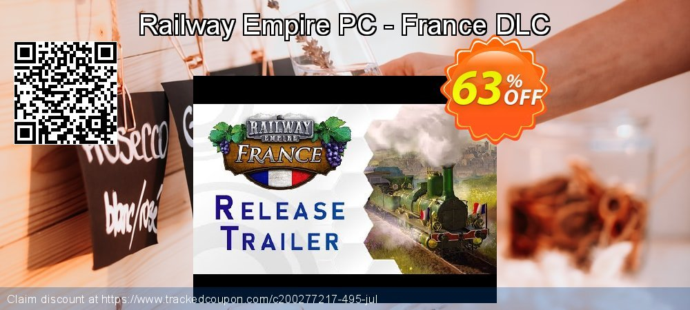 Railway Empire PC - France DLC coupon on Tattoo Day super sale