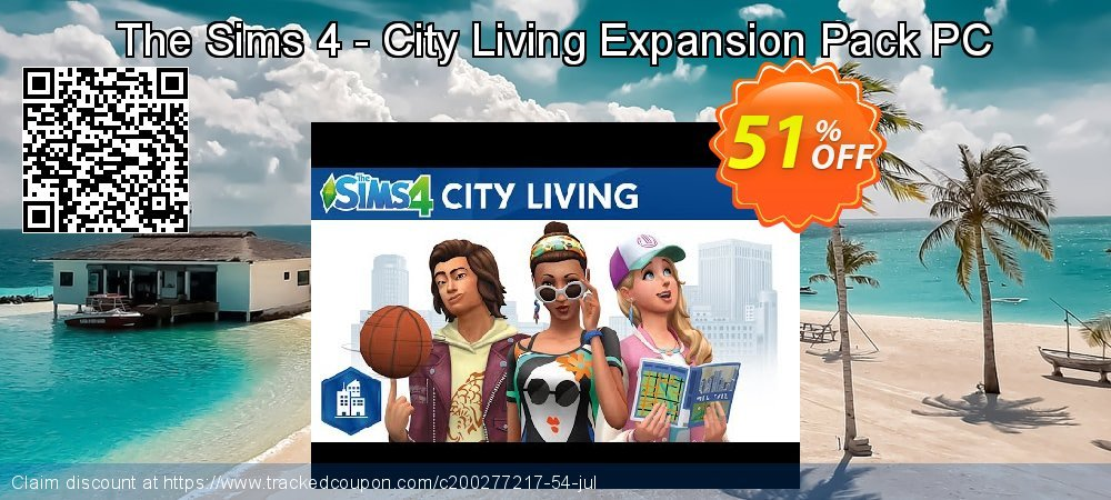The Sims 4 - City Living Expansion Pack PC coupon on Mom Day offering discount