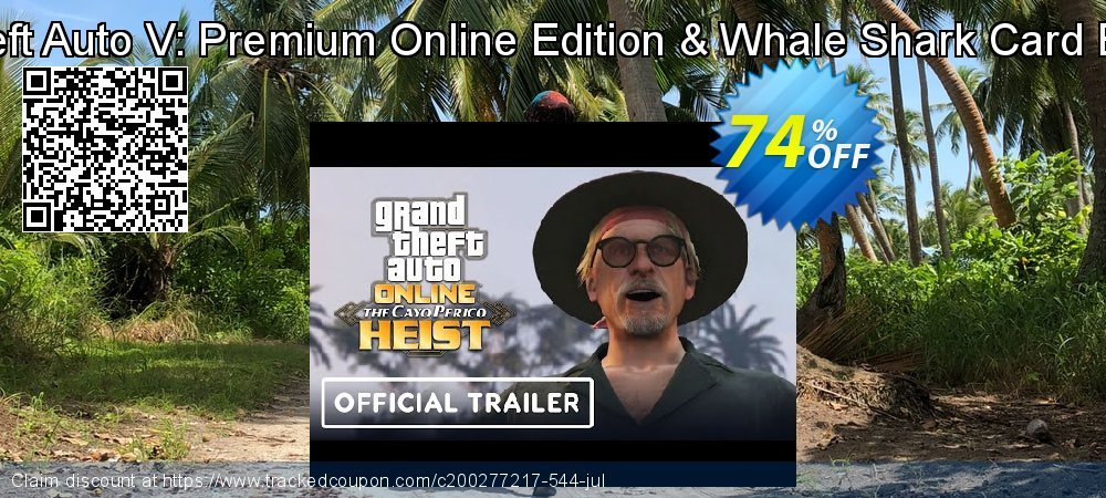 Grand Theft Auto V: Premium Online Edition & Whale Shark Card Bundle PC coupon on Back to School deals discount