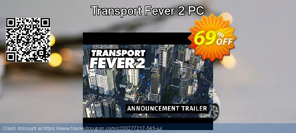 Transport Fever 2 PC coupon on Back to School shopping offering discount