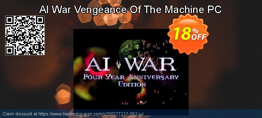 AI War Vengeance Of The Machine PC coupon on Back to School shopping discount