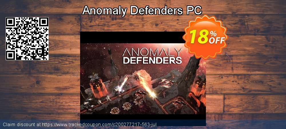 Anomaly Defenders PC coupon on Back to School offer offering discount