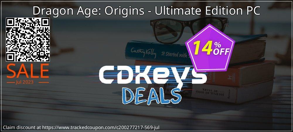 Dragon Age: Origins - Ultimate Edition PC coupon on Exclusive Teacher discount deals