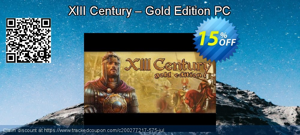 XIII Century – Gold Edition PC coupon on Parents' Day offering sales