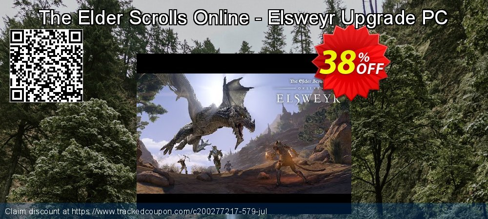 The Elder Scrolls Online - Elsweyr Upgrade PC coupon on Back to School shopping offer
