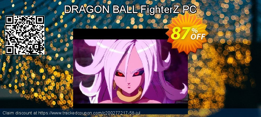 DRAGON BALL FighterZ PC coupon on Mom Day promotions