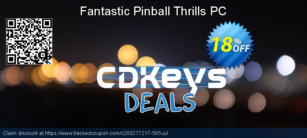 Fantastic Pinball Thrills PC coupon on New Year's Day sales
