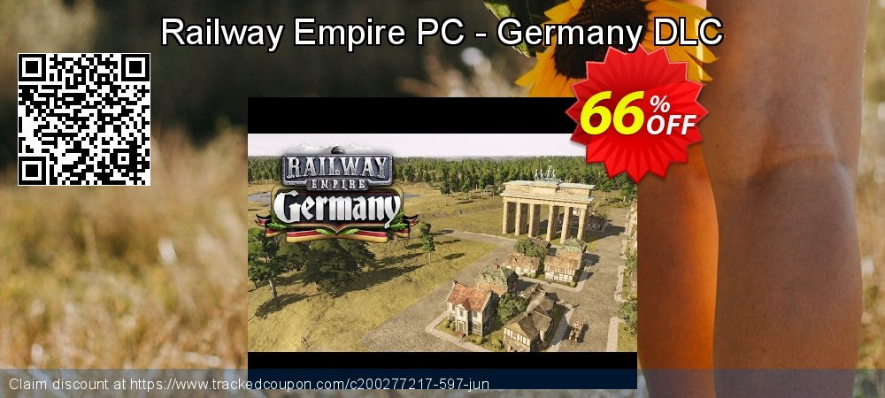 Railway Empire PC - Germany DLC coupon on World Population Day sales