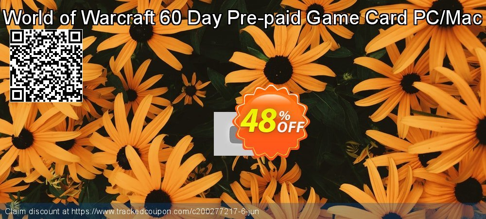 World of Warcraft 60 Day Pre-paid Game Card PC/Mac coupon on Mom Day deals