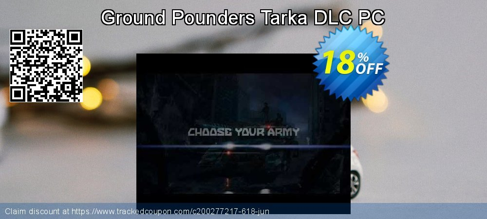 Ground Pounders Tarka DLC PC coupon on World Chocolate Day discount
