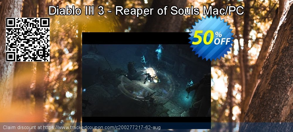 Diablo III 3 - Reaper of Souls Mac/PC coupon on Mom Day discount