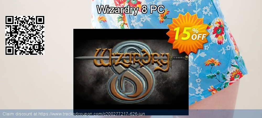 Wizardry 8 PC coupon on Back to School promo offering discount