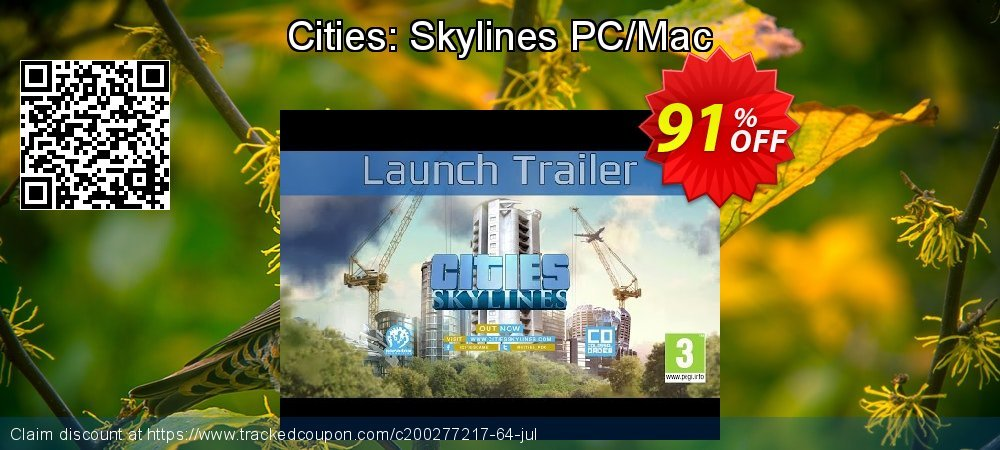 Cities: Skylines PC/Mac coupon on Chinese National Day deals