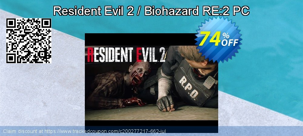 Resident Evil 2 / Biohazard RE:2 PC coupon on Back to School promotions offering discount