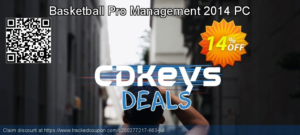 Basketball Pro Management 2014 PC coupon on Back to School deals offering sales