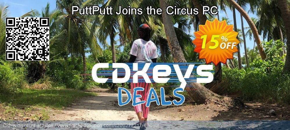PuttPutt Joins the Circus PC coupon on Back to School promotion sales