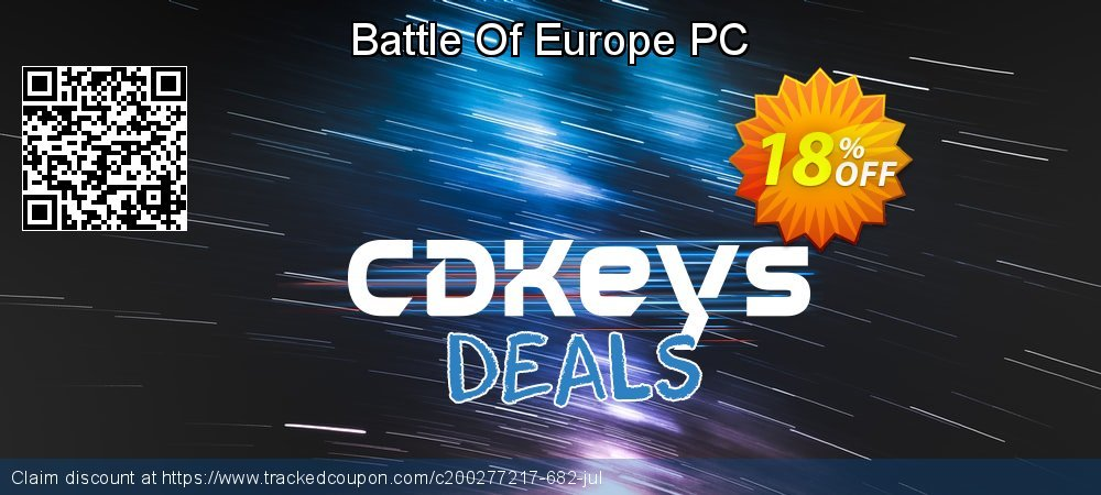 Battle Of Europe PC coupon on American Independence Day offering discount
