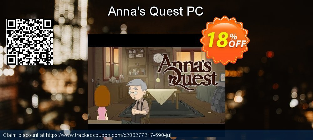 Anna's Quest PC coupon on University Student deals offering sales