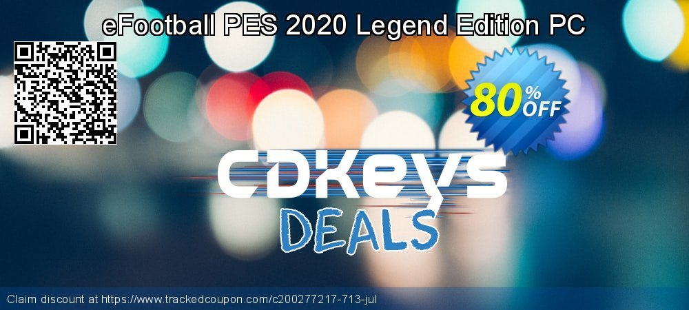 eFootball PES 2020 Legend Edition PC coupon on Back to School promotions deals