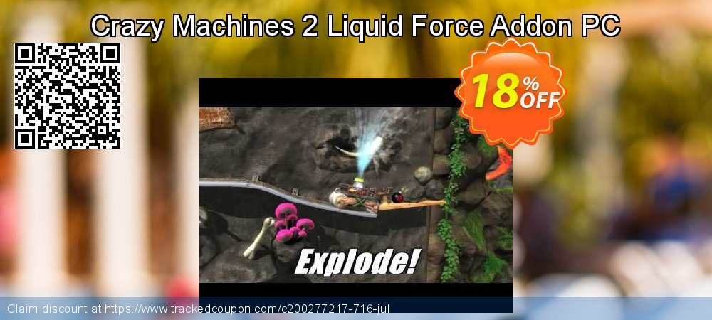Crazy Machines 2 Liquid Force Addon PC coupon on Back to School offer offering discount