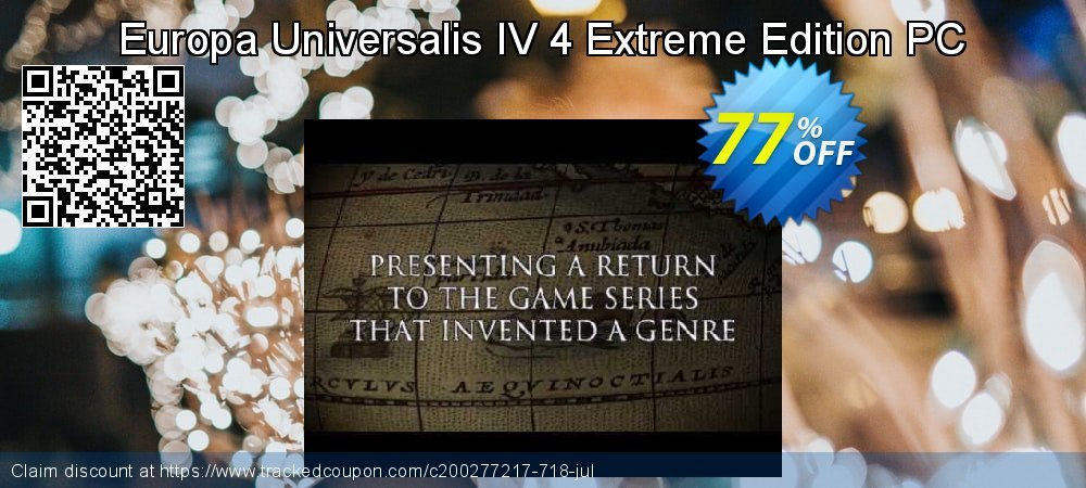 Europa Universalis IV 4 Extreme Edition PC coupon on Back to School season super sale