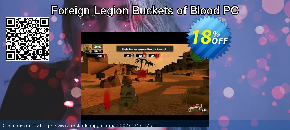 Foreign Legion Buckets of Blood PC coupon on National French Fry Day sales