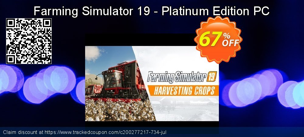 Farming Simulator 19 - Platinum Edition PC coupon on Back to School coupons offering discount