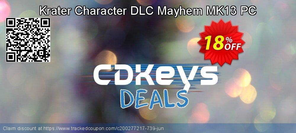 Krater Character DLC Mayhem MK13 PC coupon on Exclusive Teacher discount sales