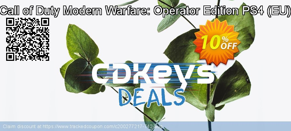 Call of Duty Modern Warfare: Operator Edition PS4 - EU  coupon on Mom Day promotions