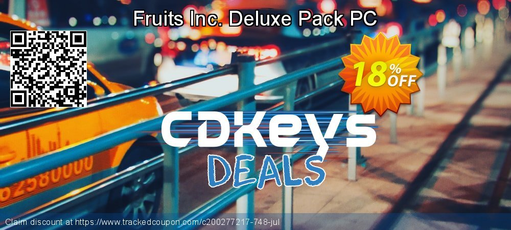 Fruits Inc. Deluxe Pack PC coupon on World Chocolate Day discounts