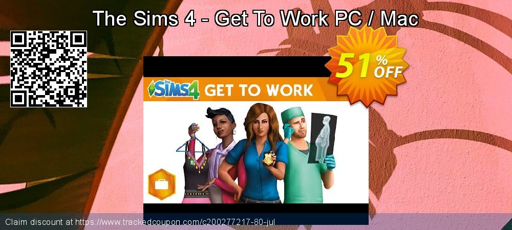 The Sims 4 - Get To Work PC / Mac coupon on Coffee Day promotions