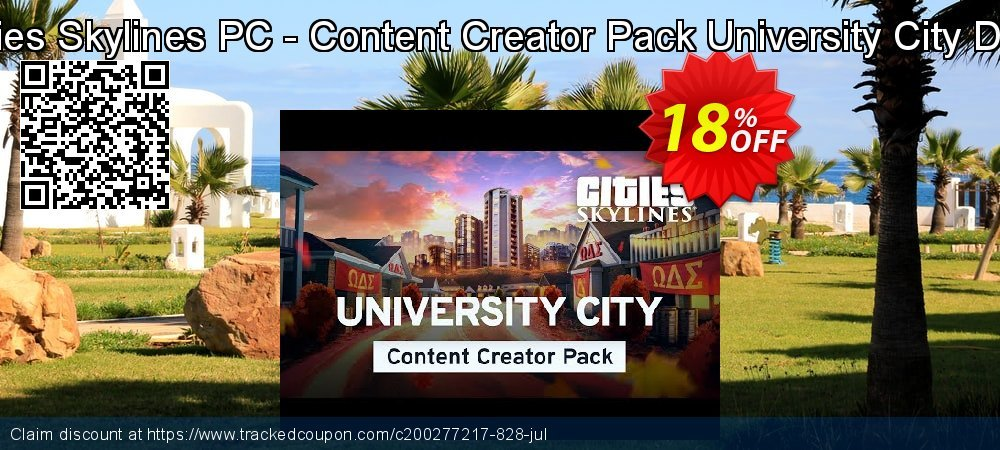 Cities Skylines PC - Content Creator Pack University City DLC coupon on New Year sales