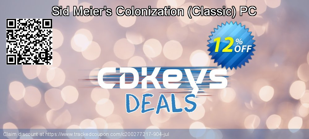 Sid Meier's Colonization - Classic PC coupon on World Bollywood Day discount
