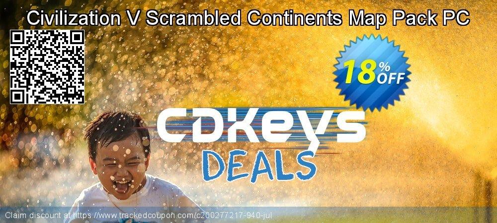 Civilization V Scrambled Continents Map Pack PC coupon on National Cleanup Day discount