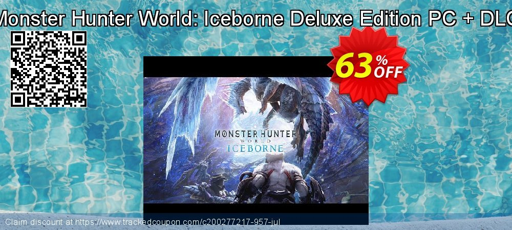 Monster Hunter World: Iceborne Deluxe Edition PC + DLC coupon on National Cleanup Day offer