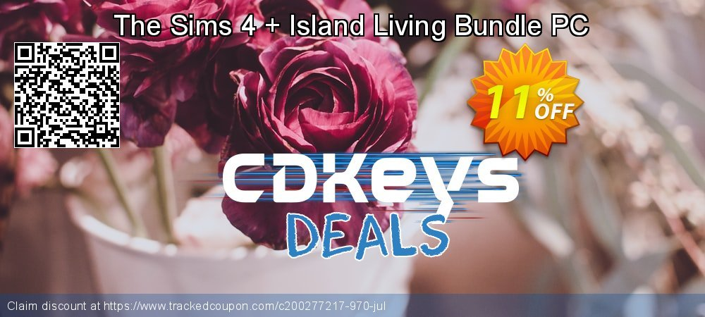 The Sims 4 + Island Living Bundle PC coupon on Wildlife month super sale