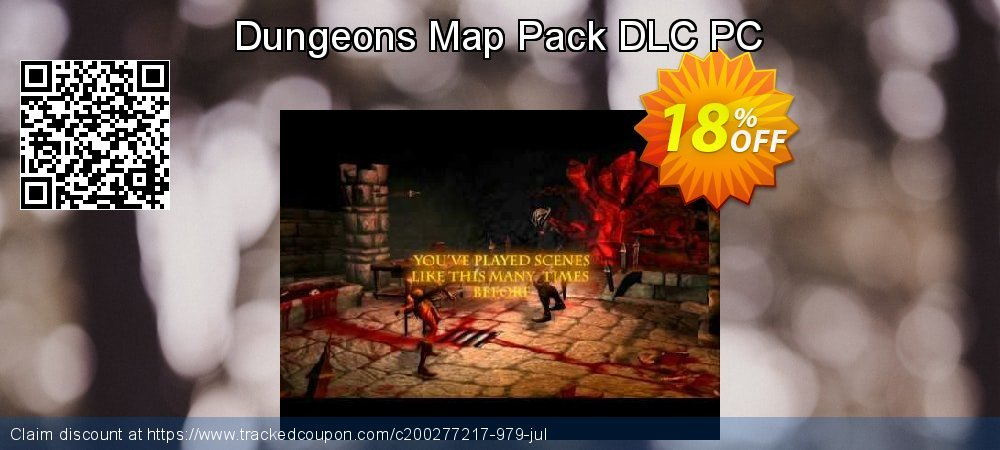 Dungeons Map Pack DLC PC coupon on National Coffee Day super sale