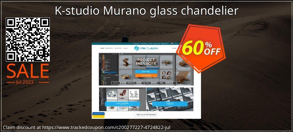 Get 60% OFF K-studio Murano glass chandelier promo sales