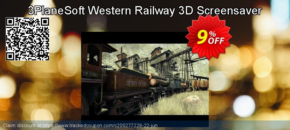 Get 5% OFF 3PlaneSoft Western Railway 3D Screensaver discount