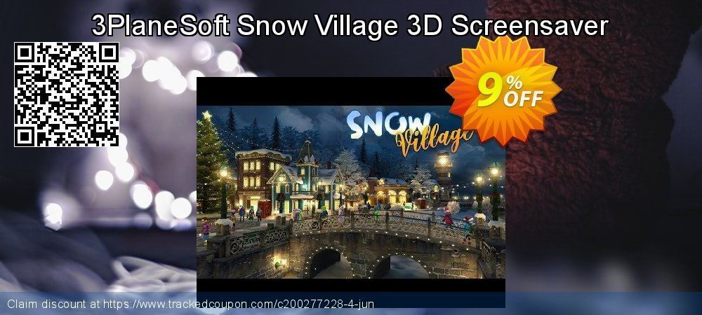 Get 5% OFF 3PlaneSoft Snow Village 3D Screensaver offering sales