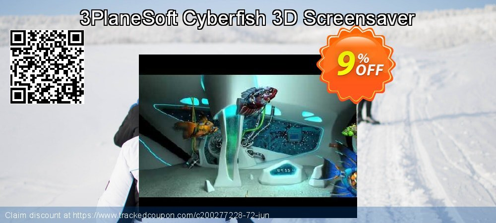 3PlaneSoft Cyberfish 3D Screensaver coupon on World Bicycle Day discounts