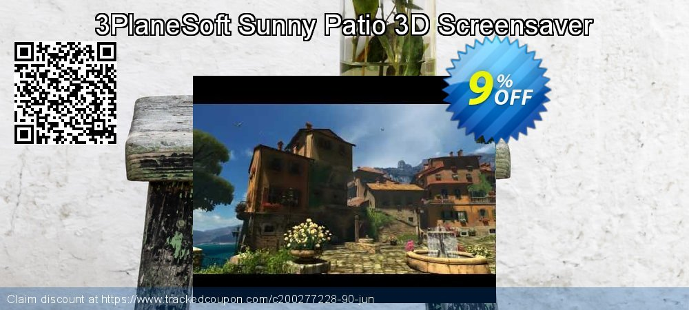 Get 5% OFF 3PlaneSoft Sunny Patio 3D Screensaver offering sales