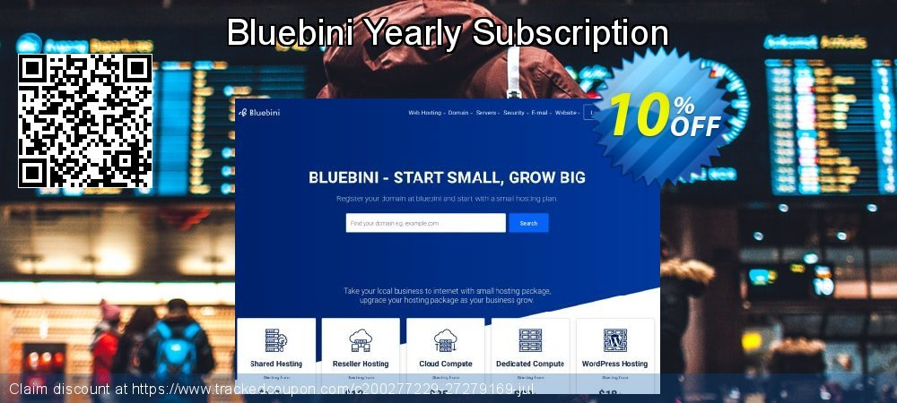Bluebini Yearly Subscription coupon on Valentine's Day offer